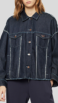 Джинсовая куртка Emporio Armani с аппликацией на спине, фото