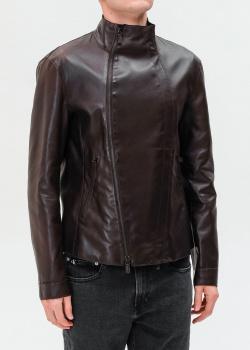 Кожаная куртка Emporio Armani с воротником, фото