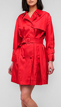 Короткий плащ Emporio Armani красного цвета, фото