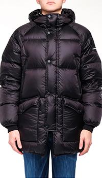 Утепленный пуховик Emporio Armani черного цвета, фото
