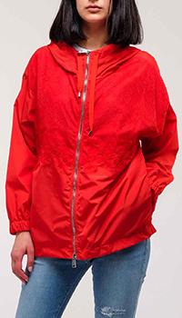 Красная куртка Ermanno Ermanno Scervino с капюшоном, фото
