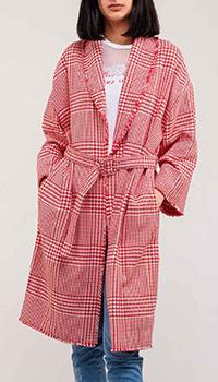 Клетчатое пальто Ermanno Ermanno Scervino с поясом, фото