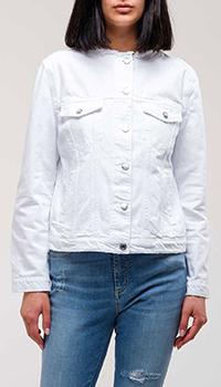 Джинсовая куртка Ermanno Ermanno Scervino с круглой горловиной, фото