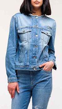 Джинсовая куртка Ermanno Ermanno Scervino с принтом на спине, фото