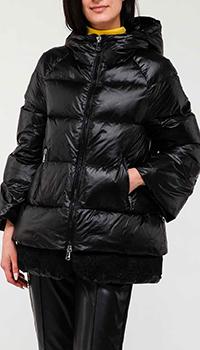 Черная куртка Ermanno Ermanno Scervino со стежкой, фото