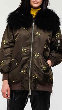 Зеленая куртка Ermanno Ermanno Scervino с вышивкой, фото