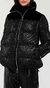 Стеганая куртка Ermanno Ermanno Scervino черного цвета, фото