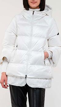 Белая куртка Ermanno Ermanno Scervino с кружевным низом, фото