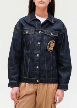 Джинсовая куртка Ermanno Ermanno Scervino с нашивкой, фото