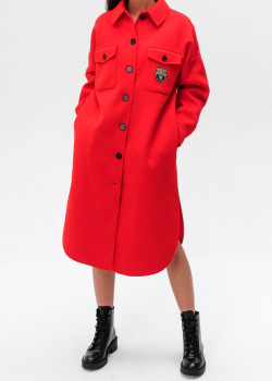Шерстяное пальто Ermanno Ermanno Scervino красного цвета, фото