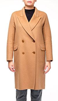 Бежевое пальто Ermanno Scervino прямого кроя, фото