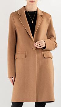 Пальто Max&Moi бежевого цвета из шерсти, фото
