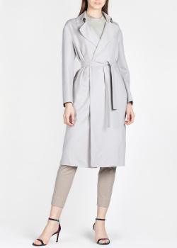 Серое пальто Fabiana Filippi под пояс, фото