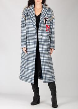 Синее пальто Frankie Morello в клетку, фото