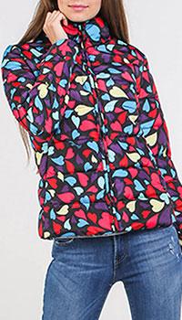 Куртка Love Moschino с принтом-сердечки, фото