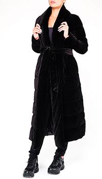 Черный пуховик Herno из принтованной ткани, фото