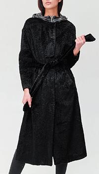 Черное пальто Herno со съемной подкладкой, фото