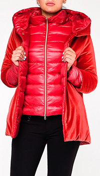 Двусторонняя куртка-трансформер Herno красного цвета, фото