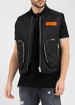 Черный жилет Heron Preston с карманами, фото