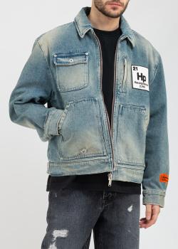 Джинсовая куртка Heron Preston голубого цвета, фото