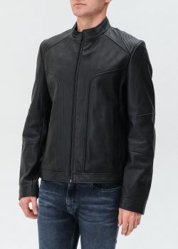 Кожаная куртка Hugo Boss Hugo черного цвета, фото