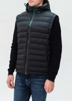 Черный жилет Hugo Boss с капюшоном, фото