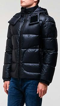 Темно-синяя куртка Hugo Boss с карманами, фото