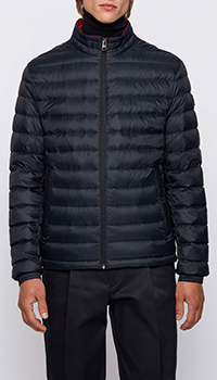 Куртка-пуховик Hugo Boss темно-синего цвета, фото