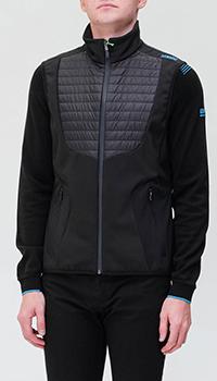 Куртка Hugo Boss черного цвета со стеганой вставкой, фото