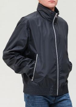 Синяя ветровка Hugo Boss с капюшоном, фото