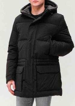 Пуховик Hugo Boss темно-серого цвета, фото