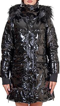 Женская лакированная курточка J.B4 Just Before черного цвета, фото