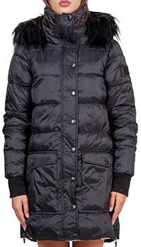 Черная курточка J.B4 Just Before с капюшоном и молнией по бокам, фото