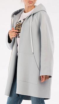 Голубое пальто Marni с капюшоном, фото