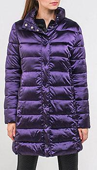 Фиолетовая куртка Love Moschino с кнопками в форме сердечек, фото