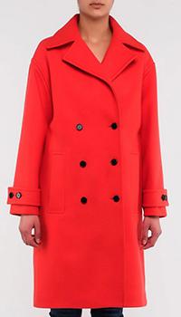 Двубортное пальто Kenzo красного цвета, фото