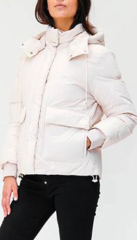 Белый пуховик Kenzo с капюшоном, фото