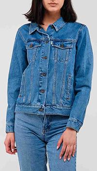Джинсовая куртка Kenzo с вышивкой на спине, фото