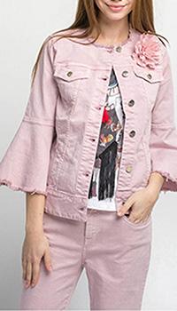 Розовая куртка Kaos с воланами, фото