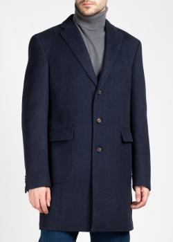 Шерстяное пальто Luciano Barbera с накладными карманами, фото