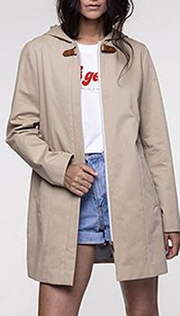 Бежевый плащ  Trench & Coat с капюшоном, фото