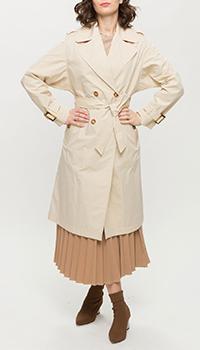 Двубортный тренч Trench & Coat бежевого цвета, фото