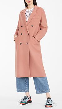 Двубортное пальто Max Mara Weekend розового цвета, фото