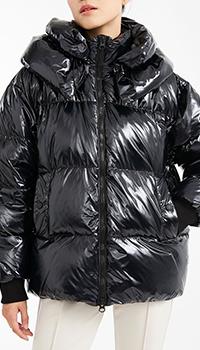 Черная куртка Max Mara Weekend с трикотажными манжетами, фото