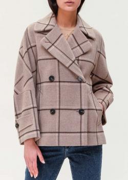 Короткое пальто Max Mara Weekend в клетку, фото