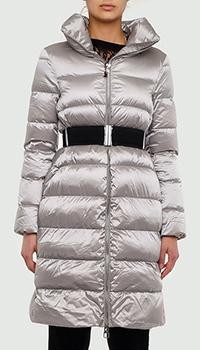 Серебристая куртка Montecore с поясом, фото