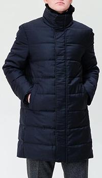 Удлиненный пуховик Montecore темно-синего цвета, фото