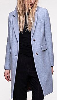 Голубое пальто Trench & Coat прямого кроя, фото