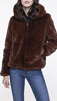 Короткая шуба Trench & Coat с капюшоном, фото