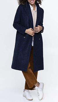 Пальто Trench & Coat из шерсти темно-синего цвета, фото